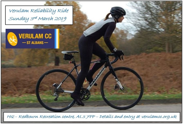 Verulam Reliability Ride - VRR - Sunday 3 March 2019 - HQ Redbourn Recreation Centre
