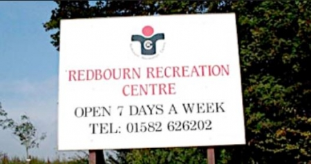 Redbourn Recreation Centre sign